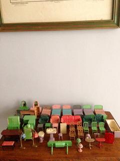 Antiguos Muebles Juguete Tootsietoy Casa De Muñecas Años 30