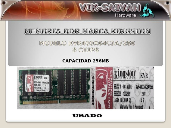Memoria Ddr Kingston 256mb Pc-3200 400mhz 8 Chips 29