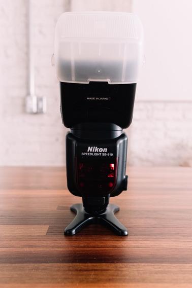 Nikon Speedlight Sb-910 Completo Difusor E Gel