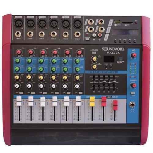 Mesa Som Amplificada 500w Ma630x 6ch Mo Soundvoice