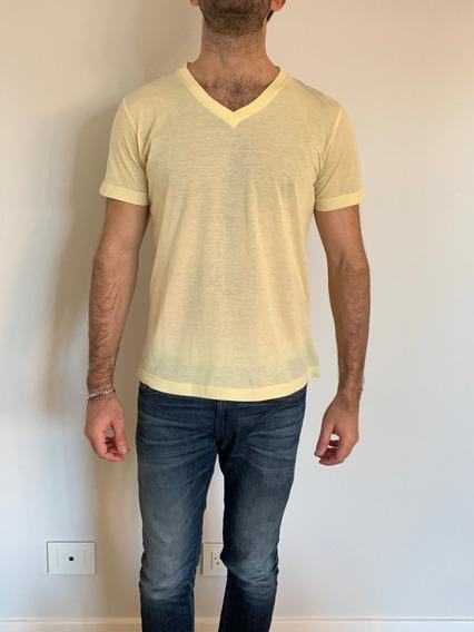Remera Hombre Diesel Amarilla Estampada - Talle L - De Usa