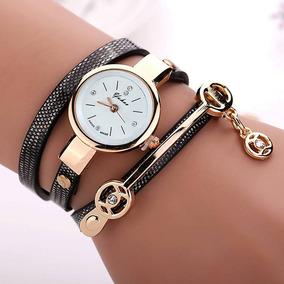 Relógio Feminino Vintage Pulseira Bracelete Luxo Lindo