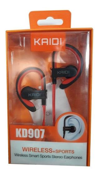 Fone Bluetooth Com Microfone Kaidi 907 Original Com Gancho