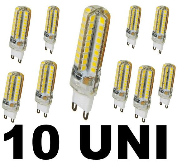 Kit 10 Lâmpada Led Halopim Lustres G9 3w