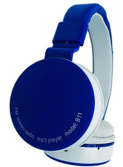 Kit 10 Fones De Ouvido Wireless Bluetooth Micro Sd Fm B11-65