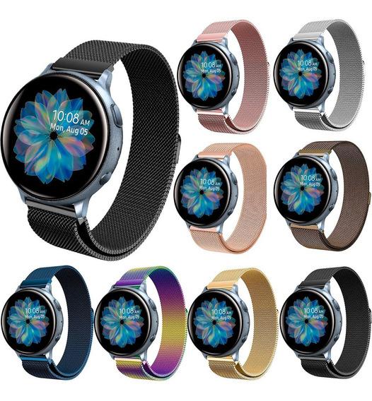 Correa Malla Milanese Premium Para Galaxy Watch Active 2