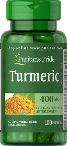 Curcuma Turmeric 400 Mg - 100 Capsu - Unidad a $340