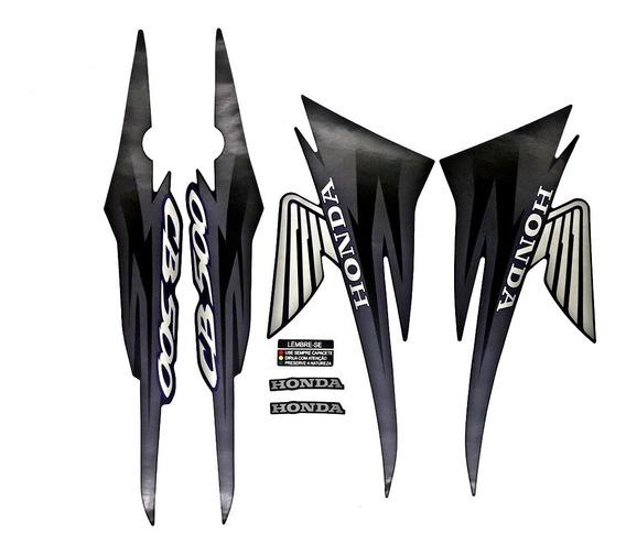 Faixas / Kit Adesivos Honda Cb500 2001 Preta