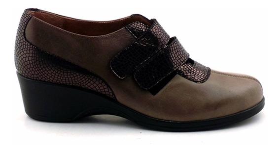 Zapato Vestir Mujer Cuero Confort Briganti Taco - Mczp05156
