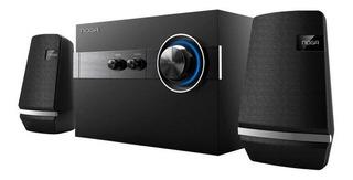 Home Theater Parlante Bluetooth Noga Doros 2.1 Madera Pc Tv