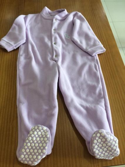 Macacão Pijama Lilás Tip Top Anti Derrapante(tamanho Rn Ao 3