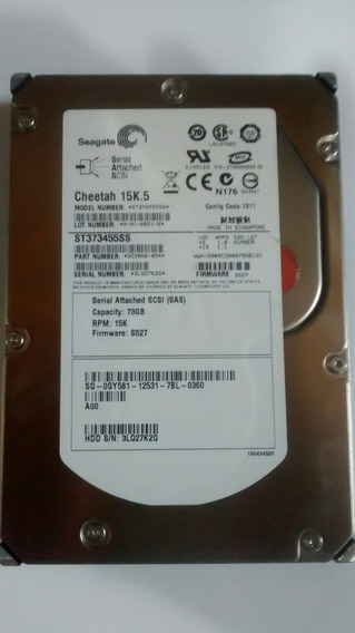 Hd Sas 73 Gb Seagate 15k.5 Pn Dell 0gy581