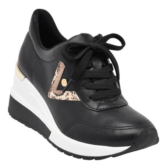 Tênis Feminino Sneaker Salto Anabela Via Marte 193322 Oferta