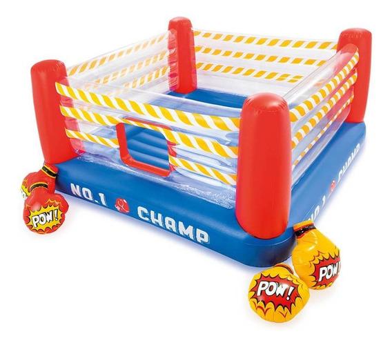 Ring De Box Brincolin Saltador Inflable De Niños 2.26m Intex