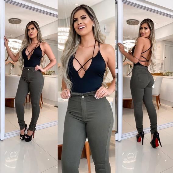 Calça Feminina Jeans Hot Pants Rasgada Estilo Pitbull