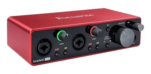 Imagen 1 de 10 de Placa De Audio Usb Focusrite Scarlett 2i2 3ra Generacion