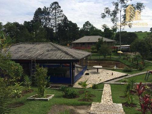 Chácara Com 3 Dormitórios À Venda, 5960 M² Por R$ 900.000,00 - Tataúba - Caçapava/sp - Ch0005