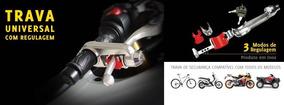 Trava Moto Antifurto Newlock Manete Freio Acelerador Inox