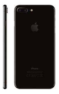 Carcaça iPhone 7 Plus Preto Brilhante Aro Laterais + Botões