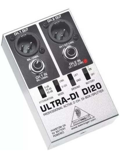 Di20 Direct Box Ativo Behringer Ultra Di-20 C/ Garantia