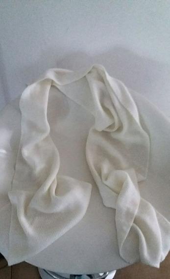 Bufanda De Hilo Fino Blanca
