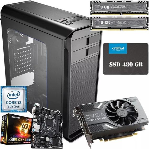Pc Gamer Cpu Ssd 480 Gb Nvidia Gtx 16 Gb Ram + 1 Game Steam