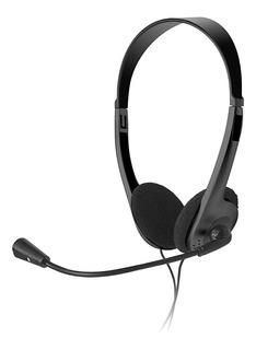 Diadema Alambrica Acteck Stereo Con Micrófono Negro (2 Cone
