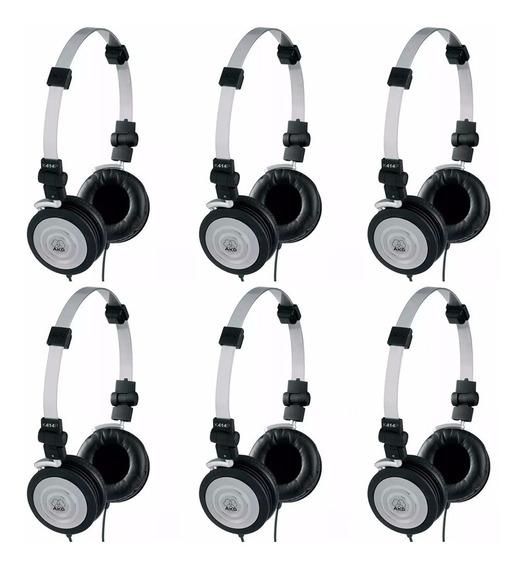 Kit 6 Fones De Ouvido Headphone Akg Profissional K414p Dj