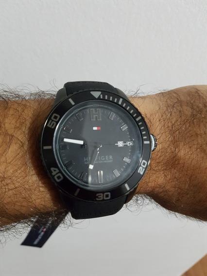 Relógio Tommy Hilfiger Original Usado 1 Vez Preto Lindo - Para Vender