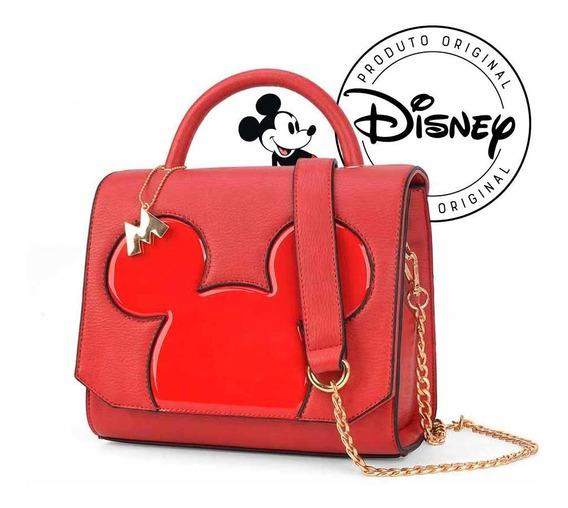Bolsa Transversal Mickey Silhueta Verniz - Original Disney