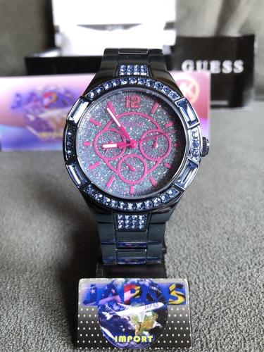 Relógio Guess W0776l4 Prata Original Completo Com Caixa