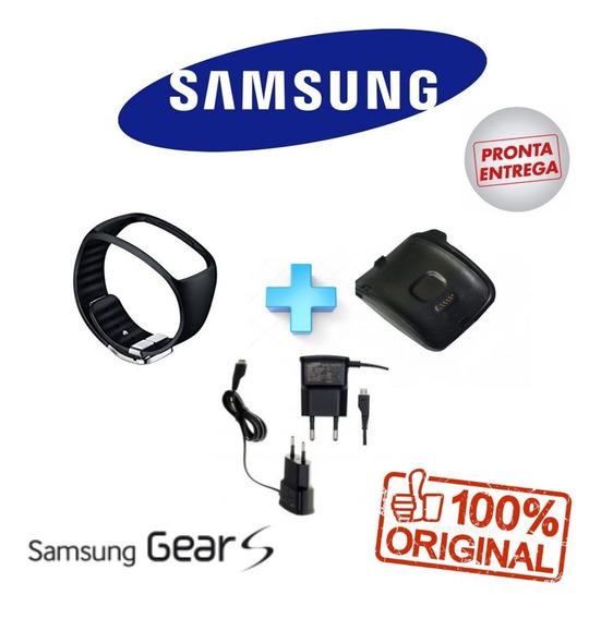 Kit Pulseira,dock.carregador Original Galaxy Gear S Sm-r750