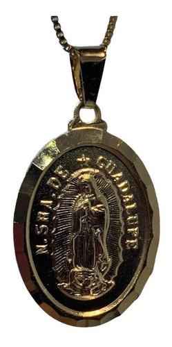 Imagen 1 de 2 de Cadena Baño De Oro Modelo Virgen De Guadalupe
