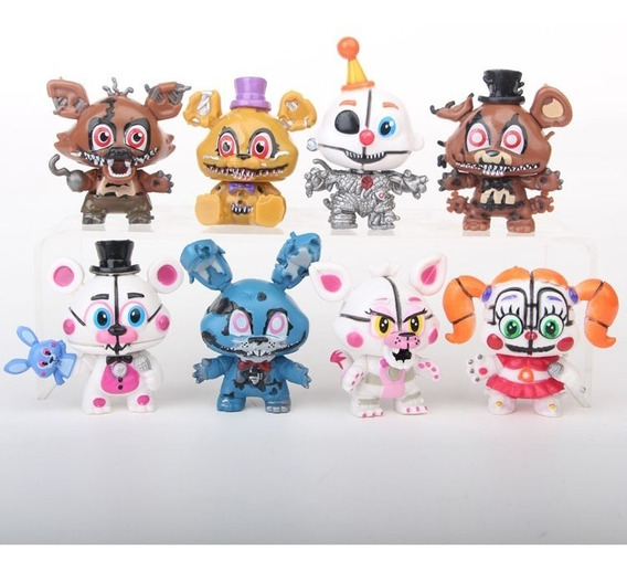 Kit 8 Mini Bonecos Five Nights At Freddy´s S190