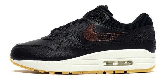 Zapatillas Nike Air Max 1 Premiun Black Gum White- Mujer