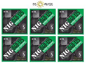 Jogo Cordas Para Contra Baixo Nig N710 040-125 5 Cordas C/6
