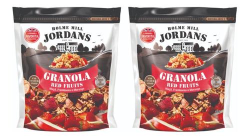 2 X Granola Jordans Red Fruits Maçã Framboesa Morango