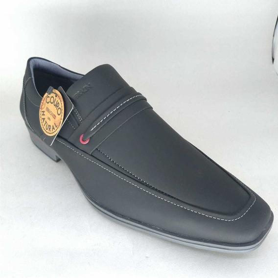 Sapato Masculino Ferracini Couro Preto Cosmo 3042
