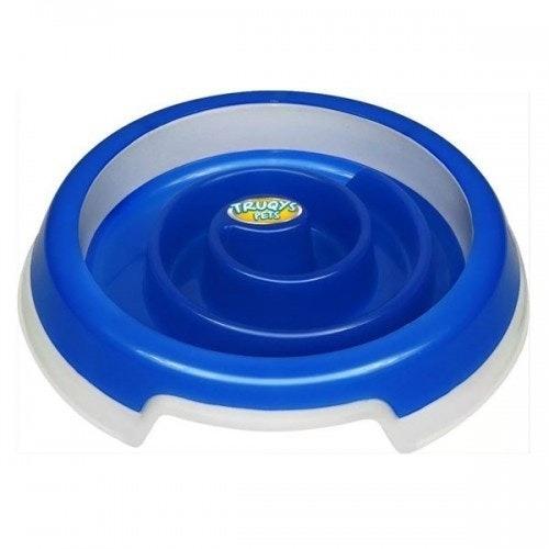Comedouro Slow Food G Azul Truqys