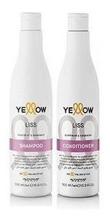 Shampoo + Acondicionador Liso Sin Sal - Yellow Therapy
