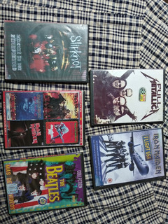 Dvd Varios Metal Rock Metallica Iron Maiden Beatles Slipknot