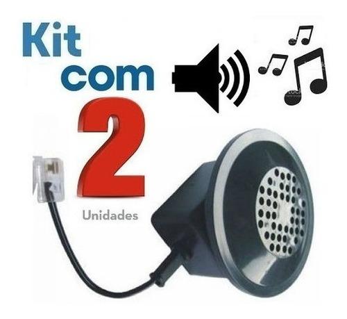 Imagem 1 de 5 de Amplificador Campainha Auxiliar Chamadas P/ Telefone Kit C/2