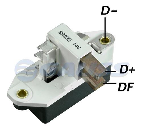 Regulador De Alternador Tipo Bosch Incorporado. 12v. C 28mm