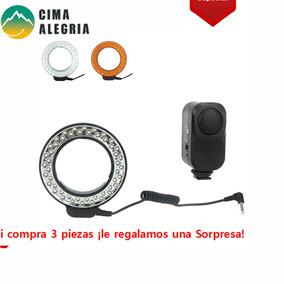 Andoer 48 Leds Macro Ring Flash Light Com 2 Difusores Para C