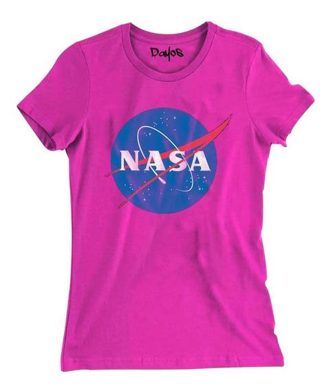 Camisa Camiseta Baby Look Nasa Feminina Moda Tumbler Geek