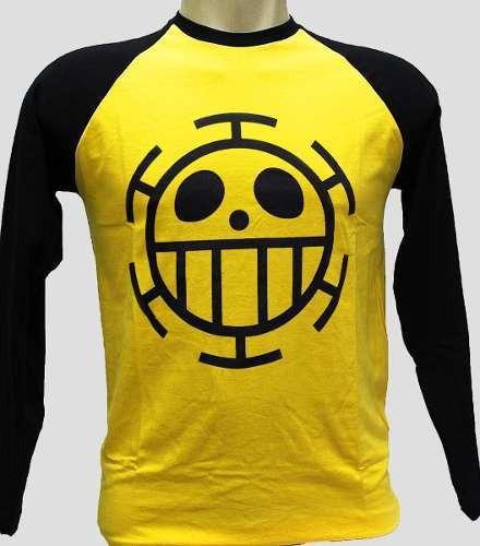 Camiseta Trafalgar Law One Piece Camisa Blusa Manga Longa