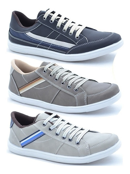 Sapatenis ,casual Masculino Combo 3 Pares !!!