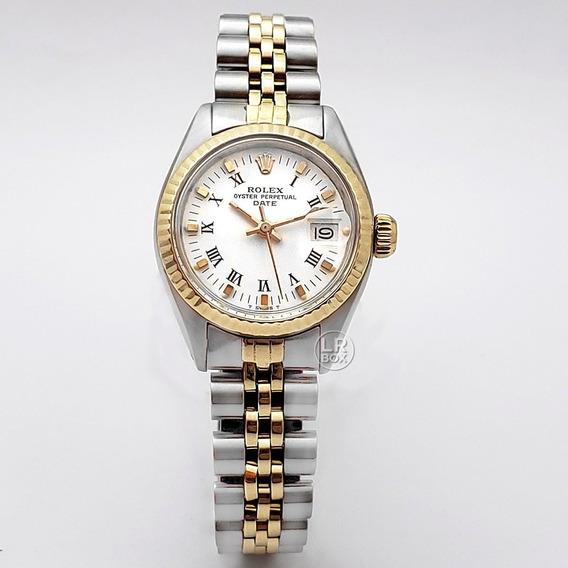 Rolex Date Lady Vintage Gold Steel 26mm Revisado