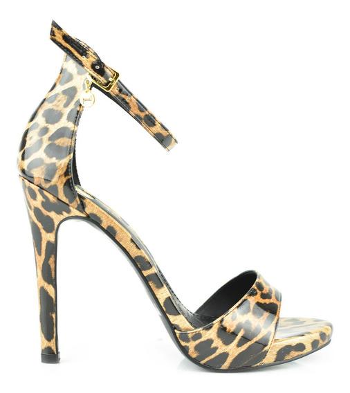 Sandalia Tacón Para Mujer Lob Footwear 497-9625 Beige Nuevo Oi19