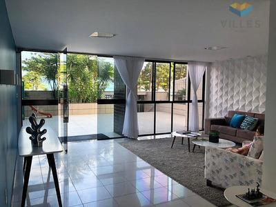 Apartamento A Beira Mar Da Pajuçara À Venda Por R$ 340.000 - Pajuçara - Maceió/al - Ap0453